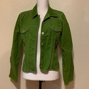 Geoffrey Beene green Cord Jacket